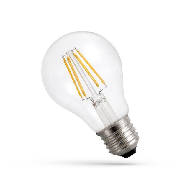 Retro LED žárovka E27 9W 1100lm teplá, filament, ekvivalent 82W
