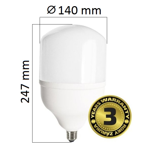 LED žárovka E27 45W 3825lm T140, denní, ekvivalent 220W