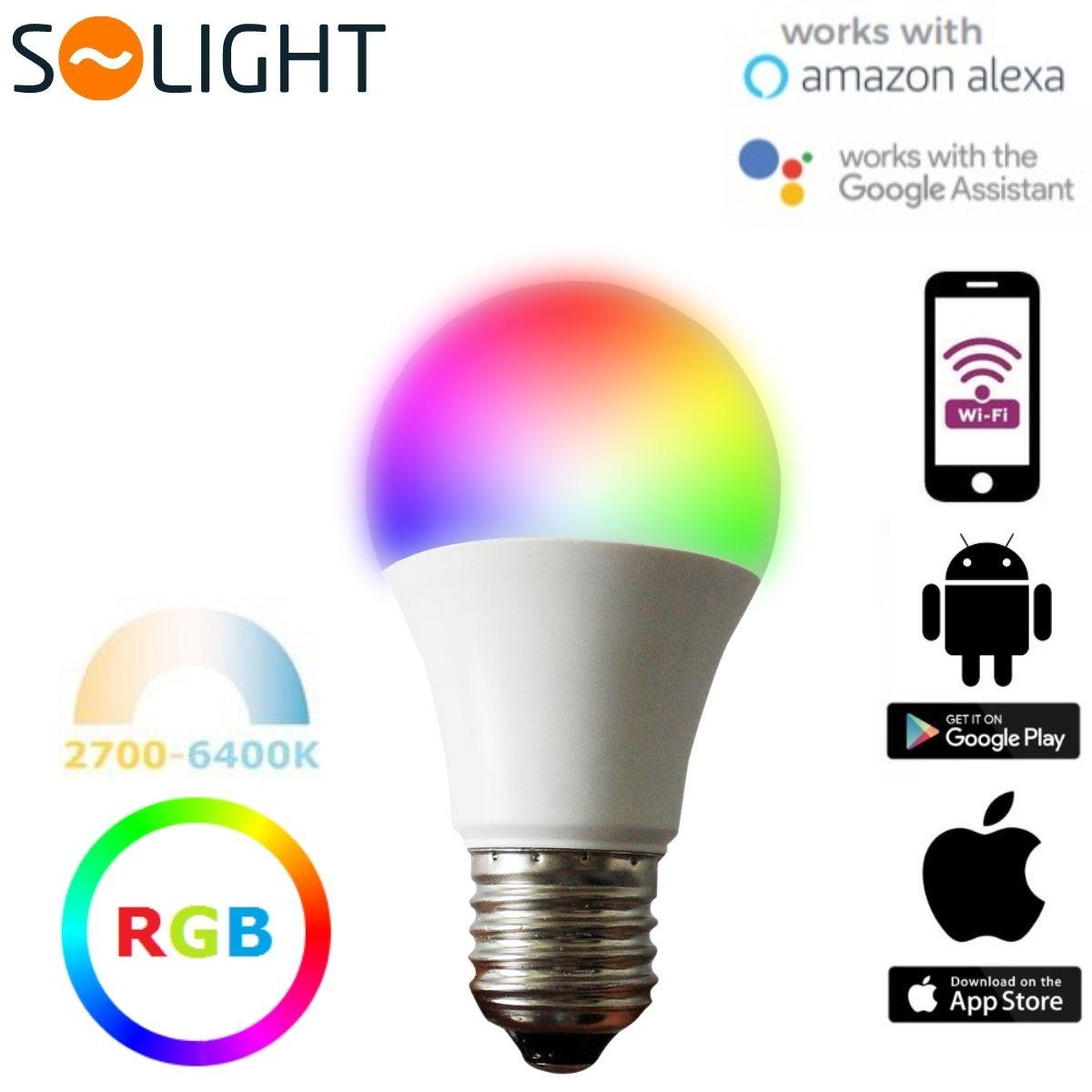Chytrá LED žárovka E27 10W WIFI RGB + teplá, denní,  studená (SMART)