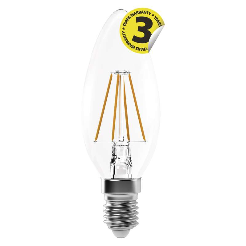 Retro LED žárovka E14 4W 465lm denní, filament, ekvivalent 40W