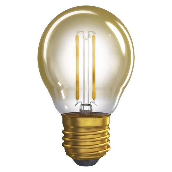 Retro LED žárovka E27 2W 170lm G45 extra teplá, filament, ekvivalent 18W