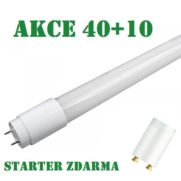 Akce: LED NANO zářivka T8 10W 850lm 60cm teplá 40+10, STARTÉR ZDARMA