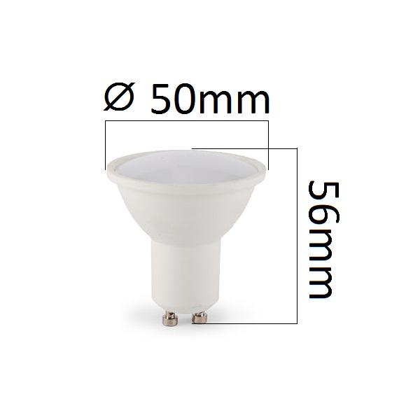 LED žárovka GU10 5W 480lm teplá,  ekvivalent 44W