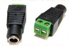Konektor led pásku k napájecímu zdroji (zelený)