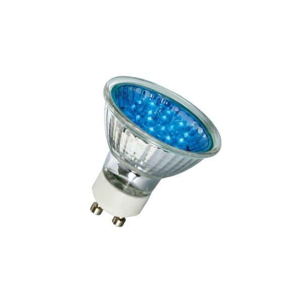 Barevná LED žárovka GU10 1W 20lm modrá
