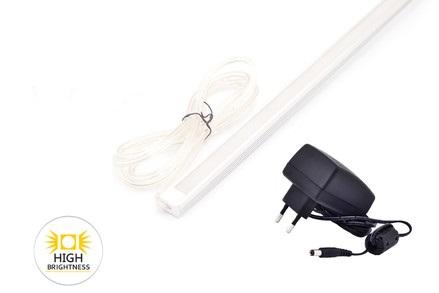 LED osvětlení kuchyňské linky ploché, 50cm 7,5W se zdrojem