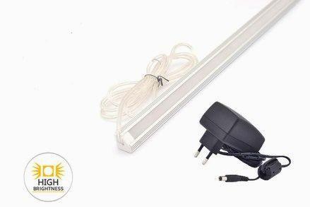 LED osvětlení kuchyňské linky rohové, 50cm 7,5W se zdrojem