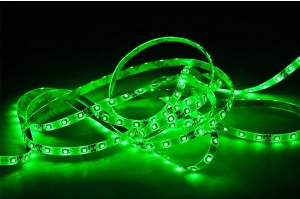 LED p�sek 60x3528 smd 4,8W/m, zelen�, vod�odoln�, d�lka 1cm
