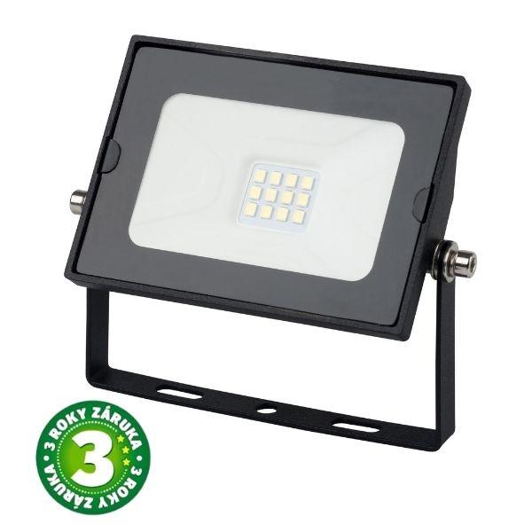 Prémiový ultratenký LED reflektor černý  10W 800lm, denní, 3 roky