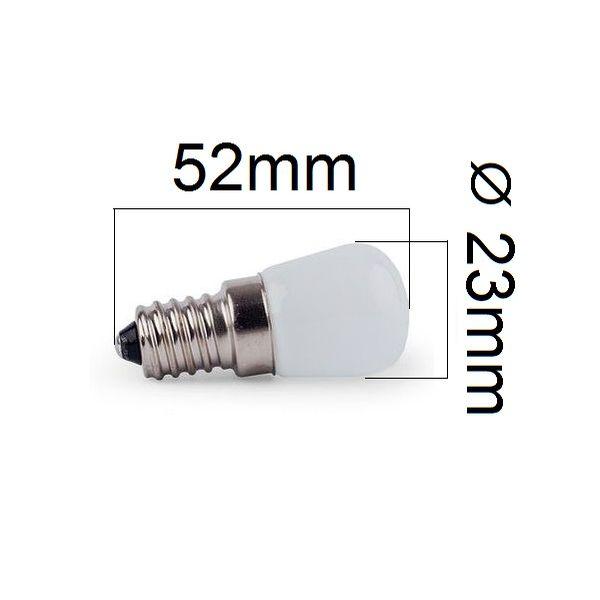 LED žárovka do lednic E14 2W 180lm denní, ekvivalent 20W