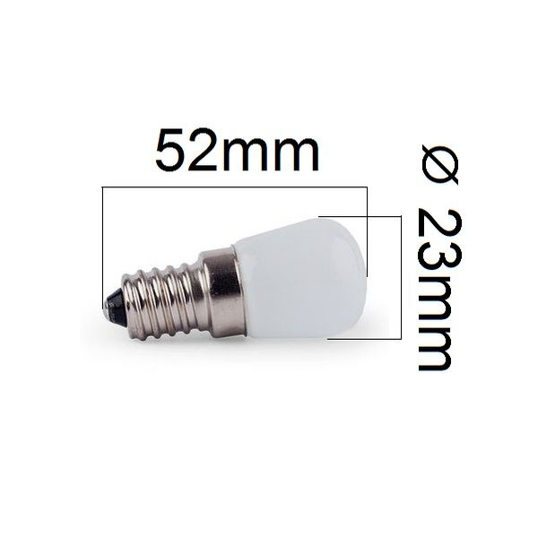 LED žárovka do lednic E14 2W 180lm teplá, ekvivalent 20W