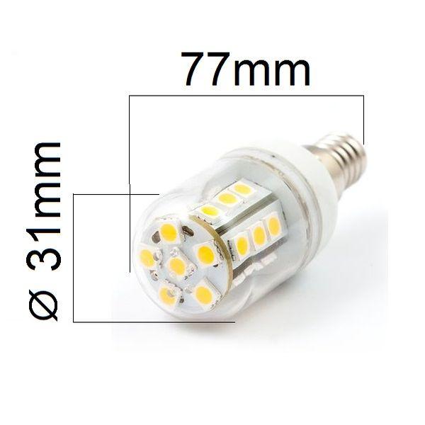 LED žárovka E14 5W 450lm teplá,  ekvivalent 42W