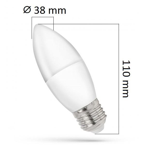 LED žárovka E27 1W 90lm teplá, ekvivalent  10W