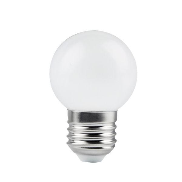 LED žárovka E27 G45 1W 80lm teplá bílá