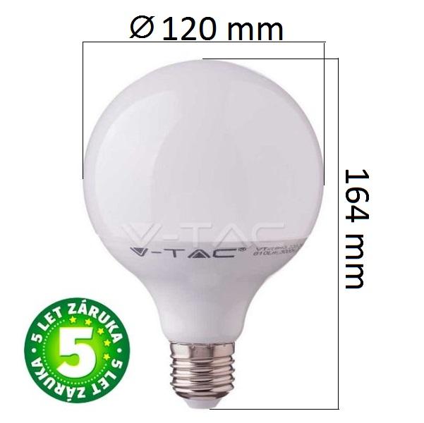 Prémiová LED žárovka E27 SAMSUNG čipy 17W 1521lm G120, denní