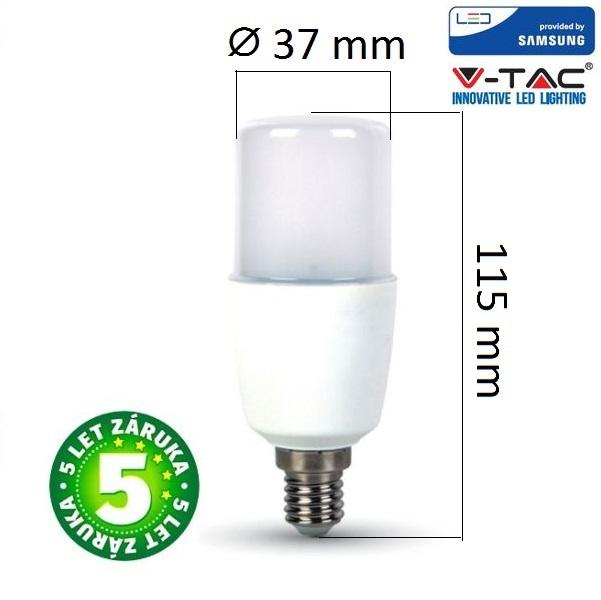 Prémiová LED žárovka E14 SAMSUNG čipy 8W 660lm, studená, 5 let
