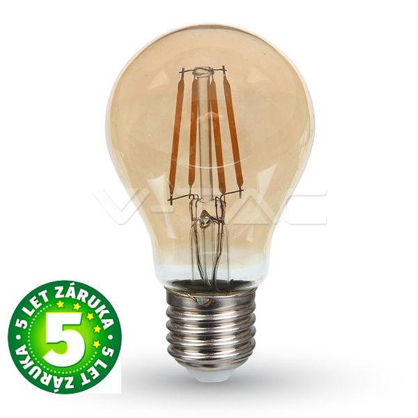 Prémiová  retro LED žárovka E27 SAMSUNG čipy 4W 350lm teplá, filament