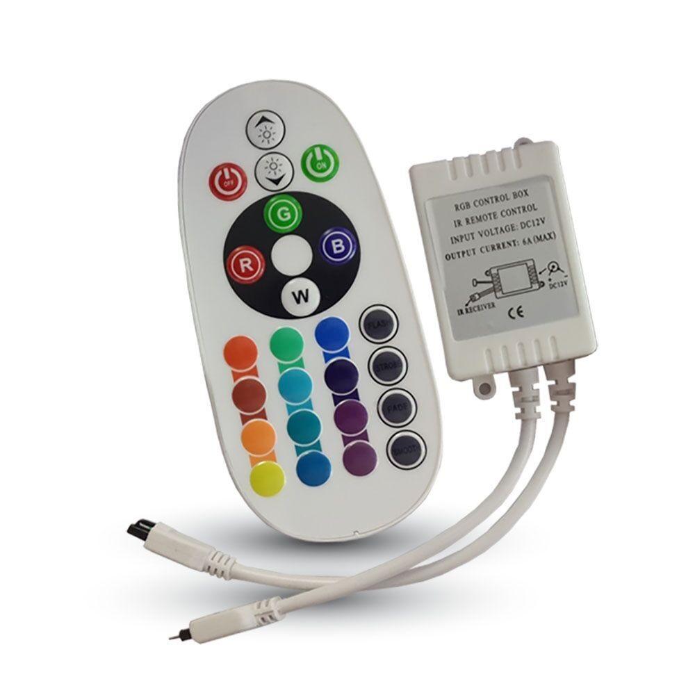 Ovladač RGB pásku s dálkovým ovládáním,  24 tlačítek
