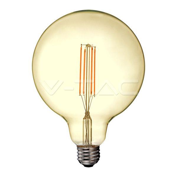 Retro LED žárovka E27 12,5W 1240lm G125 teplá, filament, ekvivalent 85W