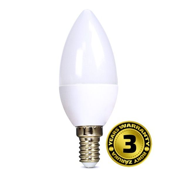 LED žárovka E14 6W 450lm teplá, ekvivalent 37W
