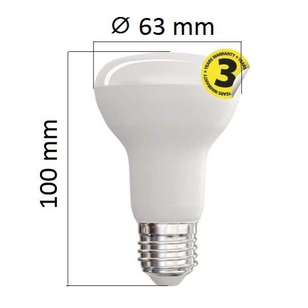 LED žárovka E27 10W 806lm R63 teplá, ekvivalent 60W