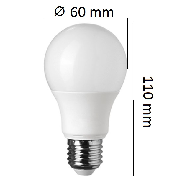 Stmívatelná LED  žárovka E27 10W 800lm teplá, ekvivalent 60W