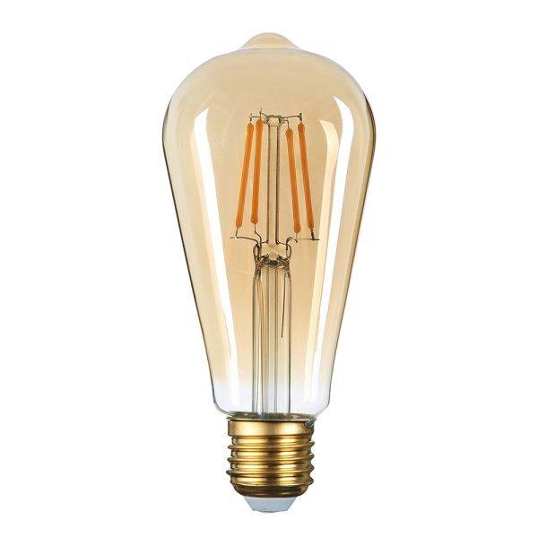 Stmívatelná retro  LED žárovka E27 8W 700lm extra teplá, filament,  ekvivalent 47W