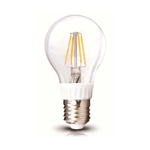 Retro LED žárovka E27 4W 440lm teplá, filament, ekvivalent 40W