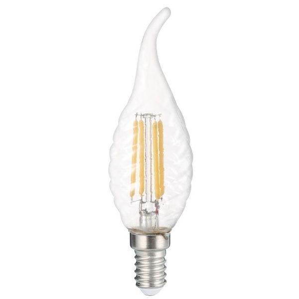 Retro  LED žárovka E14 4W 400lm teplá, filament, ekvivalent  27W
