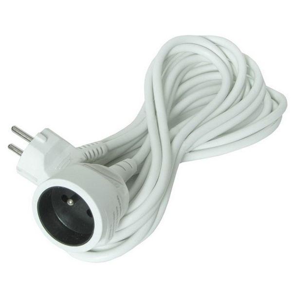 Prodlužovací kabel - spojka, 1 zásuvka, 10m, bílý