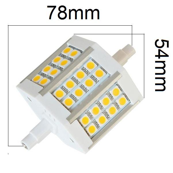 LED žárovka R7s 5W 450lm denní, ekvivalent 43W