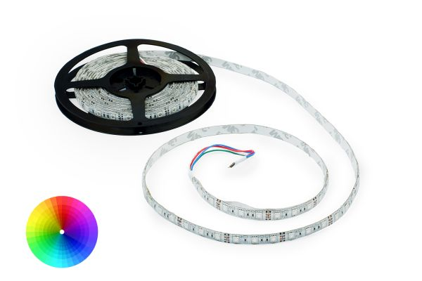RGB + W LED pásek 60x5050 smd vícebarevný, 10,8W/m, délka 5m