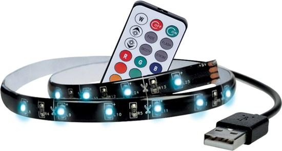 LED RGB pásek pro TV, 100cm, USB, vypínač, dalkový ovladač
