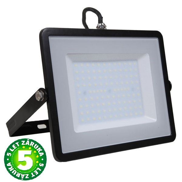 Prémiový ultratenký LED reflektor 100W 8000lm SAMSUNG čipy černý, denní
