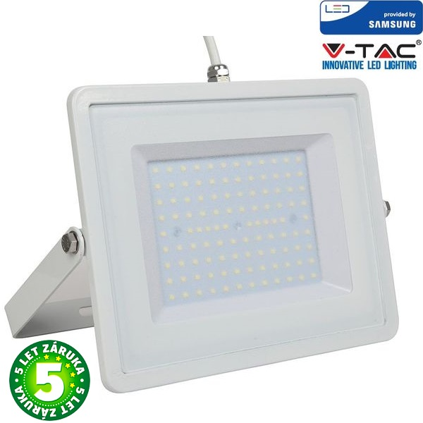 Prémiový ultratenký LED reflektor 100W 8000lm SAMSUNG čipy bílý, denní