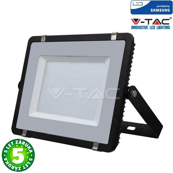 Prémiový ultratenký LED reflektor 200W 16000lm SAMSUNG čipy černý, denní