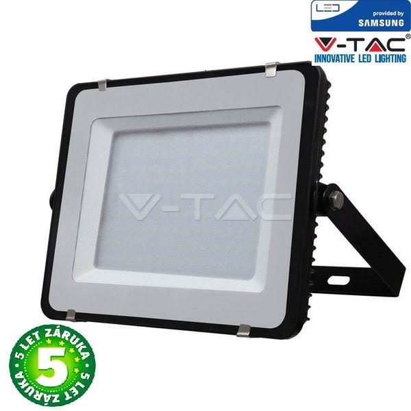 Prémiový ultratenký LED reflektor 150W 12000lm SAMSUNG čipy černý, studený