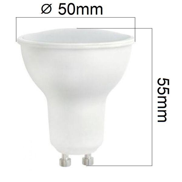 LED žárovka GU10 10W 690lm teplá, ekvivalent  56W