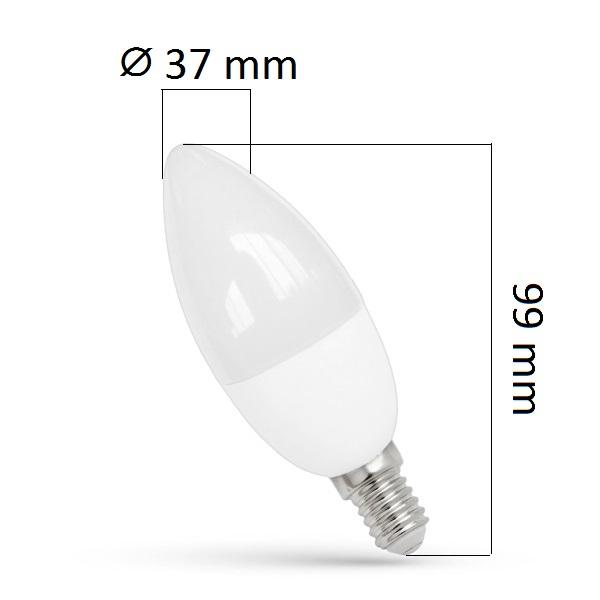 LED žárovka  E14 7W 620lm teplá, ekvivalent 50W