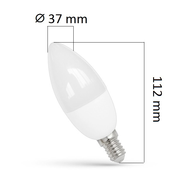 LED žárovka E14 8W 680lm, studená, ekvivalent 50W