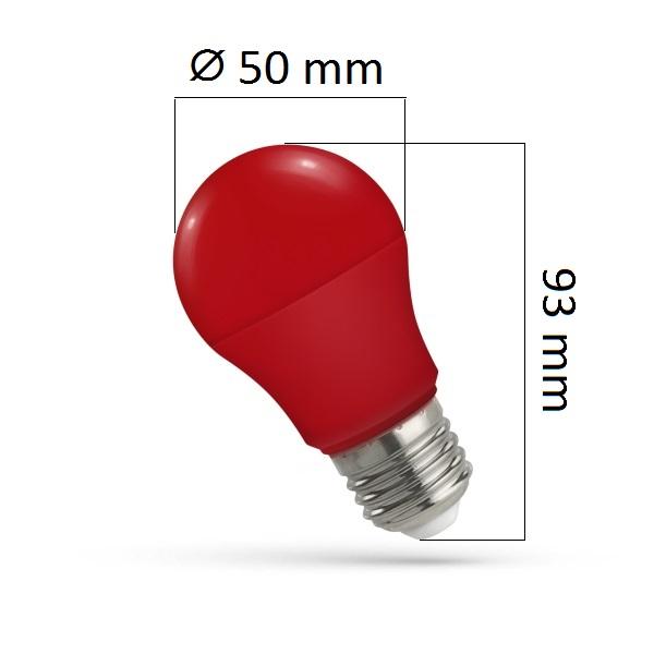 Barevná LED žárovka E27 5W červená