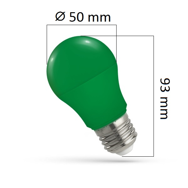 Barevná LED žárovka E27 5W zelená