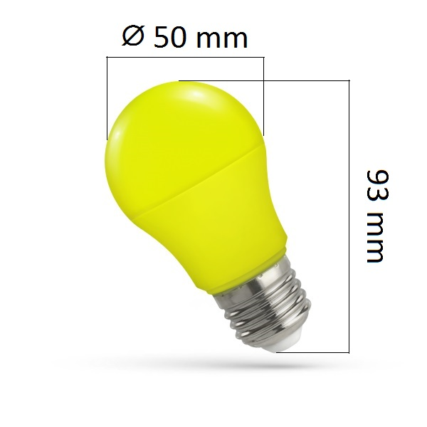 Barevná LED žárovka E27 5W žlutá