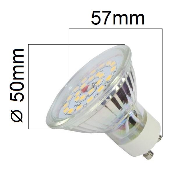 LED žárovka GU10 4W  350lm teplá , ekvivalent 34W